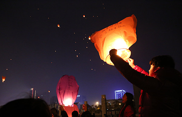 Chinese lantern festival in the sky